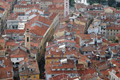 Roofs of old town Nice in France — Stock Photo