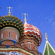 St Basil cathedral in Moscow, Russia - Stock Photo