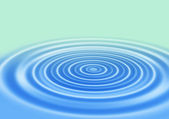 Rings of a water ripple — Stock Photo