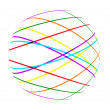 Stock Photo: Abstract color lines ball