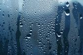 Waterdruppels op glas — Stockfoto