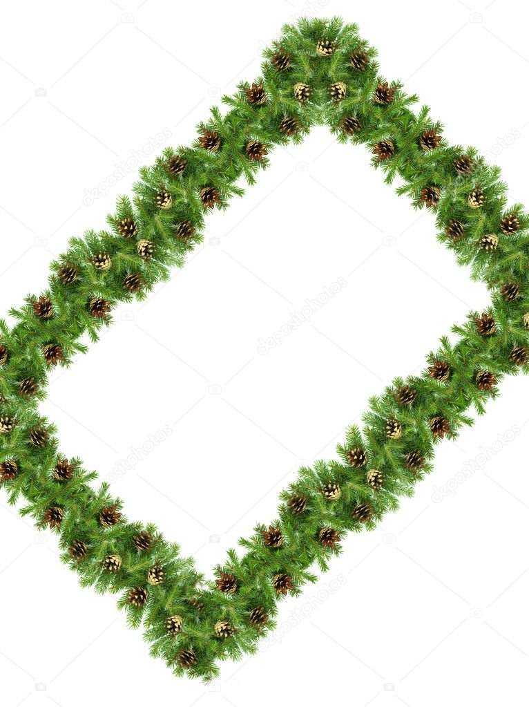 Christmas green  framework isolated on white background — Stock Photo #3063858