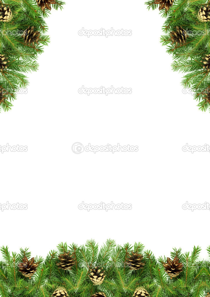 Christmas green  framework isolated on white background — Stock Photo #3070332
