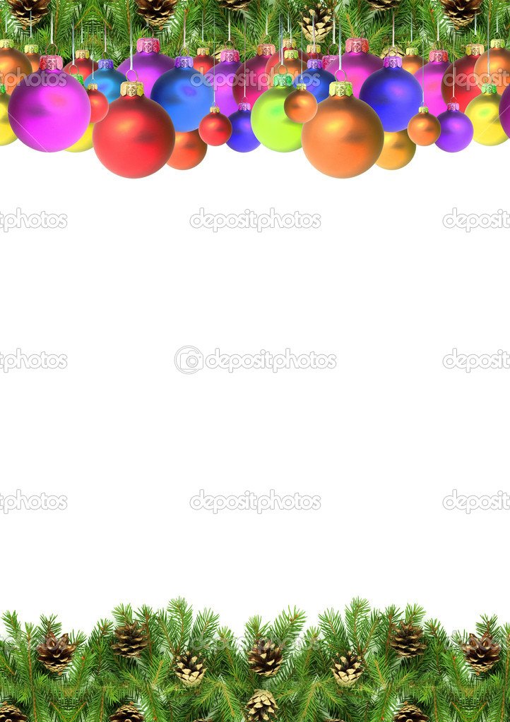 Christmas green  framework isolated on white background — Stock Photo #3092897