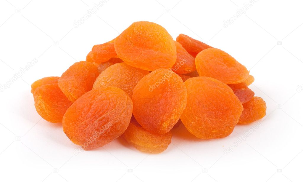 Dried apricots on a white background, Isolated — Stock Photo #3585084