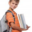 Boy holding books — Stock Photo #3747406