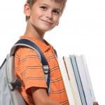 Boy holding books — Stock Photo #3864272