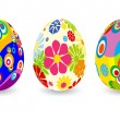 Easter eggs. — Stock Vector