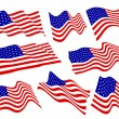 Royalty-Free Stock Vector Image: American flags.
