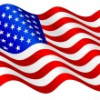 American flag. - Stockvectorbeeld
