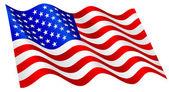 American flag. — Stock Vector
