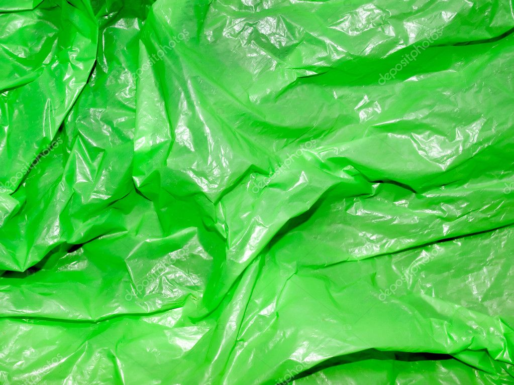 Green polyethylene texture closeup background.  Stock Photo #3721246
