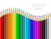 Pencils set. — Vector de stock