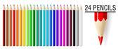 Pencils set. — Stock Vector