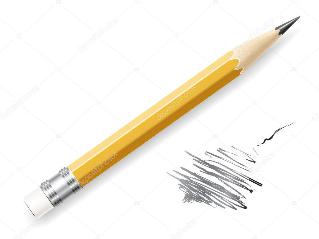 Vector lead pencil on white background. — Stock Vector #3848234