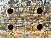 Metal plate with holes. — Stockfoto
