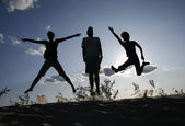 Jump for joy — Foto de Stock