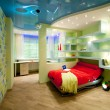 Child and youth room in disco style — 图库照片
