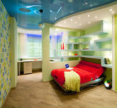 Child and youth room in disco style — Стоковое фото