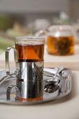 Glass of fresh green tea — Stock Photo