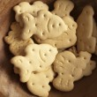 Animal shaped biscuits in a plate — Stock Photo #3548307
