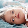 Beautiful little girl in the morning - Stock Photo