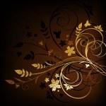 Grunge floral background — Stock Vector #3105071