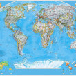 Political  map of the world — Stockfoto