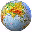 School Globe (physical map) isolated — Stock Photo