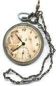 Antiguo reloj de bolsillo con cadena — Foto de Stock