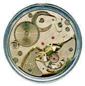 Watchwork mechanism of clock — Stock Photo