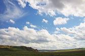 Landschaft fluss und berg-zentralasien — Stockfoto