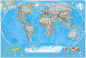 Politieke kaart van de wereld — Stockfoto