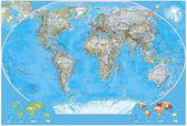 Polityczna mapa świata — Zdjęcie stockowe
