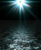 Illustration de paysage de mer et de la planète — Photo