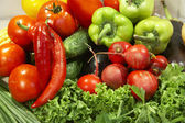 Colorful fresh group of vegetables — Stock Photo