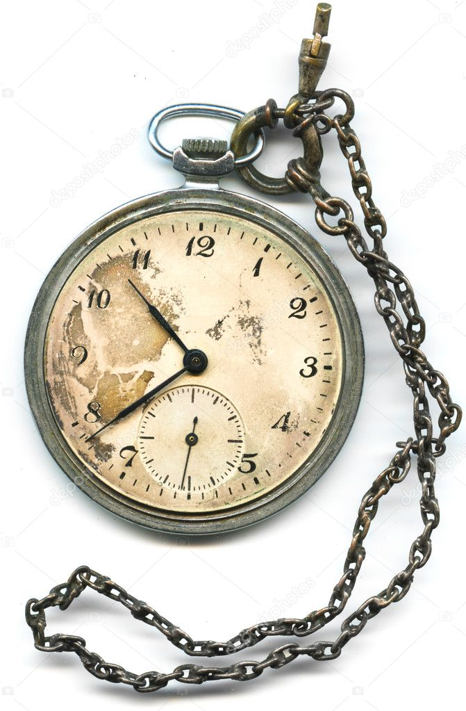 Old pocket watch with chain — Stock Photo © parfta #3346494