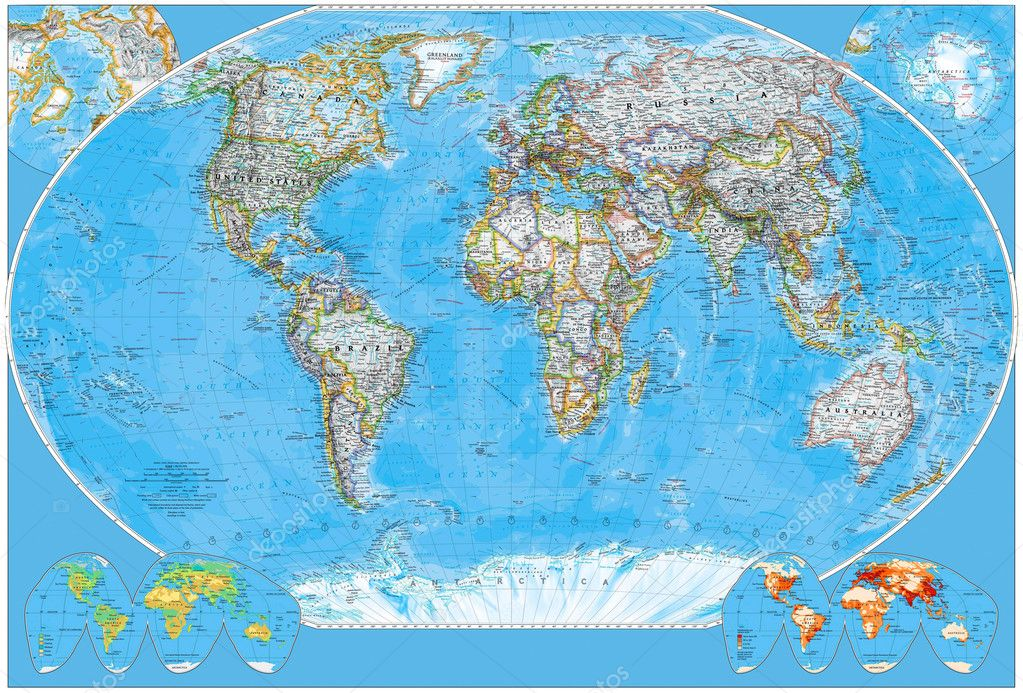 Political map of the world — Stock Photo #3347305