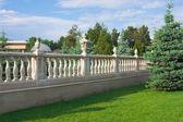 Balaustrada no parque — Foto Stock