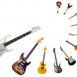 Collection of guitars — Stock Photo