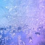 Frozen ice on window glass — Stock Photo