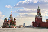 Red Square in Moscow in the evening. — Stock Photo