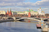 Landscape on river Moscow and Kremlin — Stock Photo