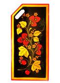 Art floral pattern on the kitchen blackboard — Stock Photo
