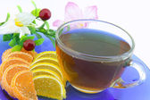 Chá, jujuba e flor de aço-vida — Fotografia Stock