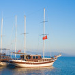 Landscape sea with yacht — Stock Photo #3541756