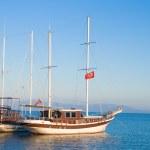 Yat ile deniz manzara — Stok fotoğraf