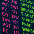 Stock Photo: Arrival/Departure Board