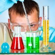 Scientist in laboratory — Stock Photo