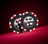 Casino gambling chips — Stock Photo
